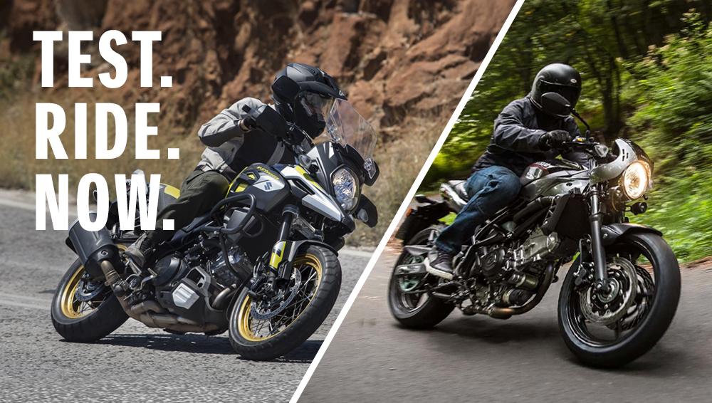 Този сезон V-Strom1000XT и SV650X те очакват за Test Ride